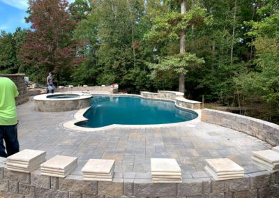 Southern Greenscapes Landscape Design & Construction | Fort Mill, Tega Cay, Rock Hill, Lake Wylie, Clover. Indian Land, Waxhaw, Weddington | falls creek court