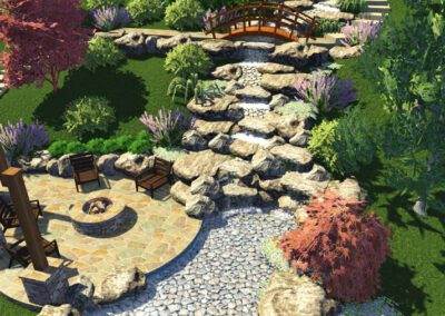 Southern Greenscapes Landscape Design & Construction | Fort Mill, Tega Cay, Rock Hill, Lake Wylie, Clover. Indian Land, Waxhaw, Weddington | pine moss lane