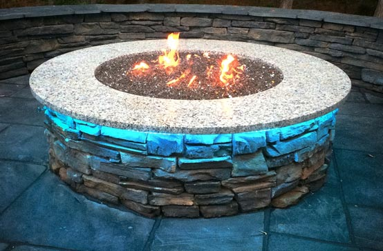 Southern Greenscapes Landscape Design & Construction | Rock Hill, SC | lighted fire pit