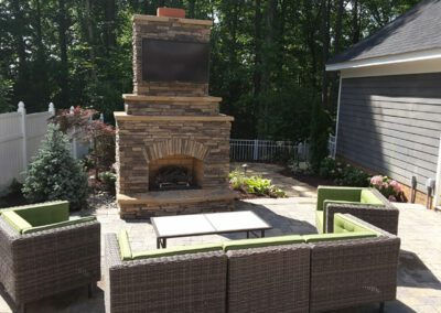 Southern Greenscapes Landscape Design & Construction | Rock Hill, SC | patio with fireplace