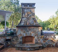 Southern Greenscapes Landscape Design & Construction | Rock Hill, SC | fireplace